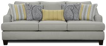 fusion furniture 2310 transitional stationary sofa with shapely