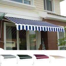 Aleko Awning Reviews 13 U0027 X 10 U0027 Diy Manual Patio Retractable Deck Awnings Sunshade