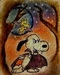 snoopy halloween tecido by bradsnoopy97 on deviantart