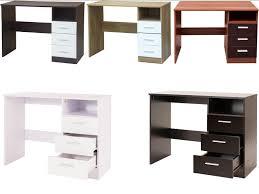 White High Gloss Computer Desk by Caspian Supreme High Gloss 3 Drawer Desk Dressing Table Black