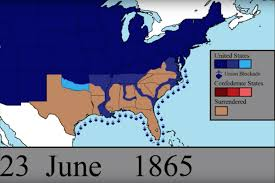 map of the us states in 1865 animated map lets you the unfolding of every day of the u s