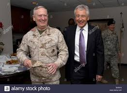 us secretary of defense chuck hagel laughs with general james