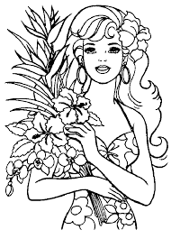 coloring pages kids barbie coloring pages kids barbie
