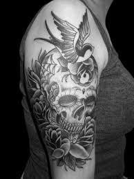 38 best black and grey skull sleeve tattoos images on pinterest