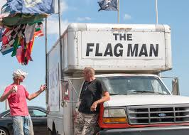 American Flag On Truck Flag Man Selling Flags On Long Warf Since 1992 Southern News