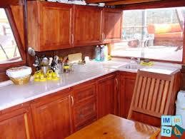 necessaire de cuisine voilier occasion caique traditionnel ketch en bois 53 pieds 6 po