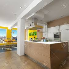 3d design kitchen 3d rendering of a design kitchen with magnificent view pictures