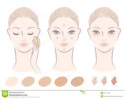 Color Concealer Face Color Concealer Stock Illustrations U2013 442 Face Color
