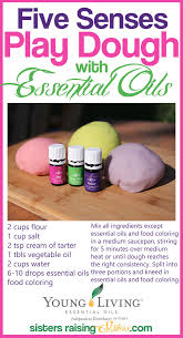 five senses play dough with essential oils sisters raising sisters
