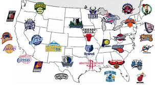 map usa nba nbacom team locations and contact information fan map
