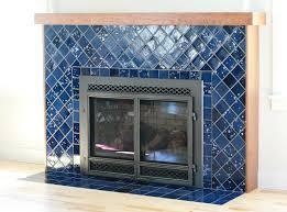 northern lights tile fireplace handmade ceramic tile