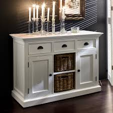 decor white shabby chic buffet credenza