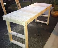 Plans For Making A Wooden Workbench by Easy Cheap Folding Workbench 5 Steps
