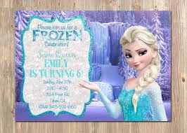 Frozen Invitation Cards Elsa Frozen Birthday Decorations Image Inspiration Of Cake And