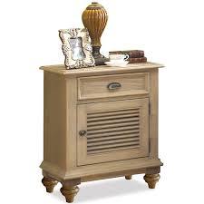 shutter door nightstand with 1 drawer u0026 2 shelves by riverside