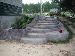 diy u0027faux rock u0027 concrete steps with planter area first we