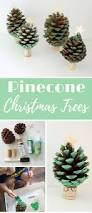 pinecone christmas tree craft food fun kids