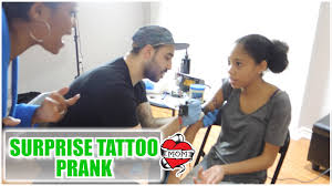 tattoo prank app surprise tattoo prank 15 season 9 youtube