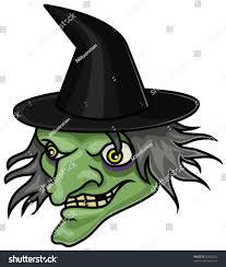cartoon halloween witch head mask stock vector 53850292 shutterstock