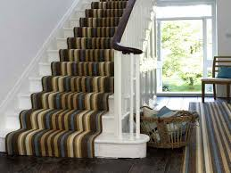 Stairs Rug Runner Decorations Grey Monochromated Stripes Pattern Stairs Carpet