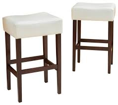 duff backless leather bar stools set of 2 traditional bar
