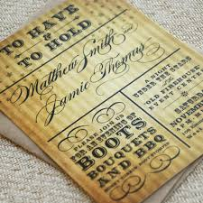 Wedding Invitations Rustic Western Wedding Invitations Rustic Typography Wedding Invite