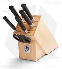 kershaw kitchen knives set wasabi black knife set 7 blade hq