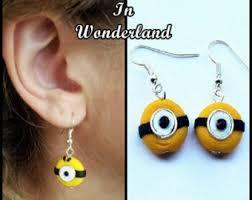 minion earrings jewelry etsy