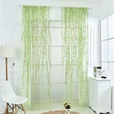 Walmart Sheer Curtain Panels 200x100cm Willow Floral Sheer Curtains Panel Voile Tulle Window