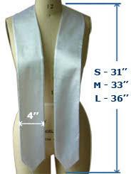 blank sashes buy blank sashes plain graduation stoles online