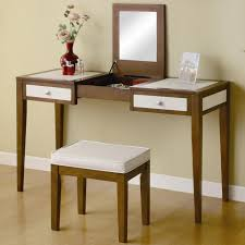 Antique Wood Vanity Antique Cherry Wood Vanity Table With Drawers And Frameless Mirror