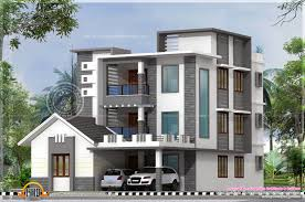 Luxury Home Design Kerala Three Storied Modern Luxury House Kerala Home Design And Floor Plans