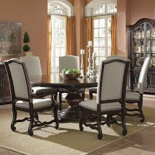 dining room amazing round glass dining table with wooden base