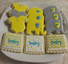 yellow and gray baby shower yellow gray and blue baby shower mix just cookies