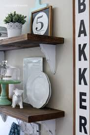 Farmhouse Chic Dining Room Shelves Lolly Jane - Dining room wall shelves