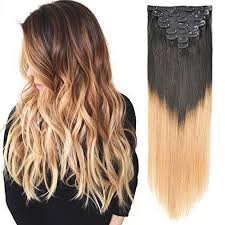 clip hair top quality remy clip hair extension ombre color manufacturers and