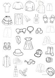 clothing colouring worksheet worksheet free esl printable