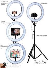 ring light effect app socialite 18 led ipad ring light kit incl light 6ft stand
