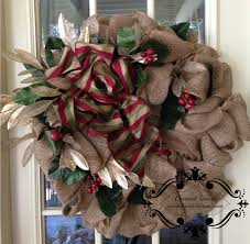 burlap christmas wreath burlap christmas wreaths with magnolia leaves and berries and gold