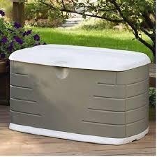 outdoor storage box patio deck organizer 75 gallon plastic garden