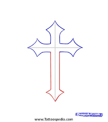 cross with 3 lines 2