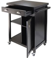 Wheeled Kitchen Islands Kitchen Island Carts And Microwave Carts Organize It