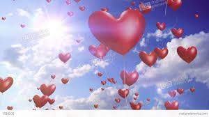 heart balloons heart balloons wedding background loop stock