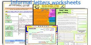 english teaching worksheets informal letters