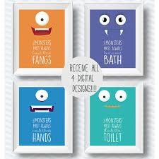 printable poster for hand washing set of bathroom rules bathroom printables bathroom