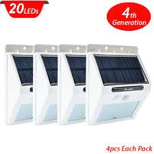 Solar Security Motion Sensor Light by Aliexpress Com Buy 4pcs 20 Led Motion Sensor Light Outdoor Solar