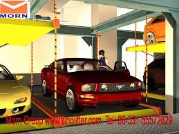 Basement Car Lift Morn Two Layer Car Parking Lift In Basement Youtube