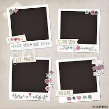 wedding scrapbook stickers vintage scrapbook set of photo frames with flowers laurels