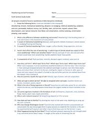 weathering and soil formation worksheet answers world of letter