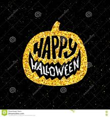 happy halloween party banner with gold typography stock vector
